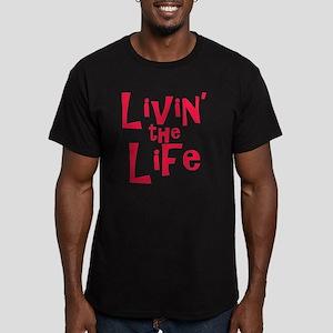 livin the life Men's Fitted T-Shirt (dark)