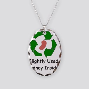 Slighty Used Kidney Inside Necklace Oval Charm