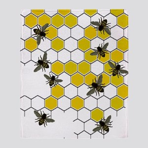 FF 3 bees Throw Blanket