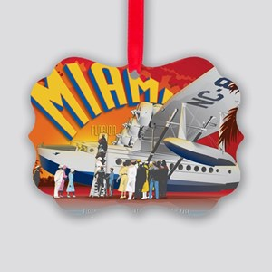 Pan American Base Miami Large Picture Ornament