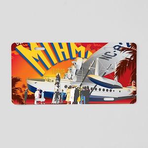 Pan American Base Miami Lar Aluminum License Plate