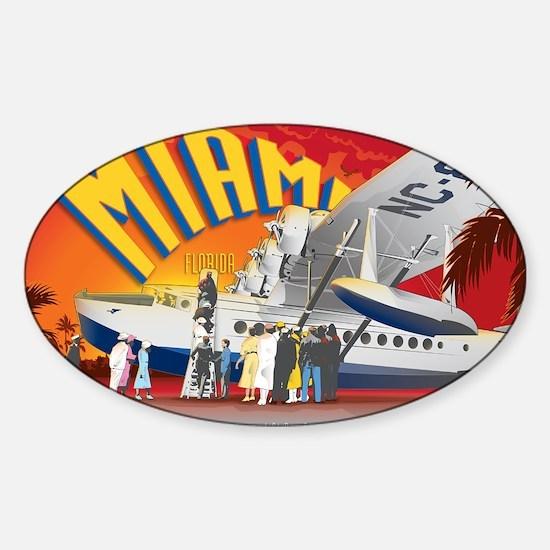 Pan American Base Miami Large Sticker (Oval)