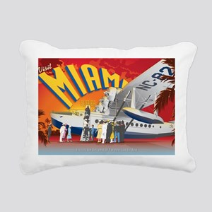 Pan American Base Miami  Rectangular Canvas Pillow