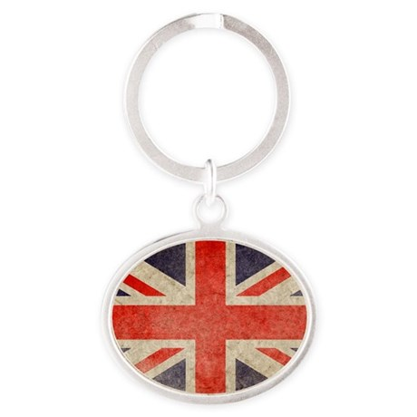 Pillow Faded UK Oval Keychain
