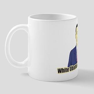 White Obama Mug