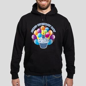 1St Birthday Boy Hoodie (dark)