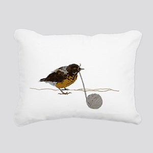 peeper Rectangular Canvas Pillow
