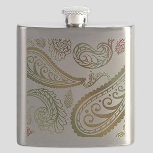 oliveburgundypaisleyking Flask
