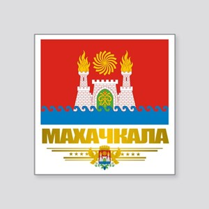 "Makhachkala Flag Square Sticker 3"" x 3"""