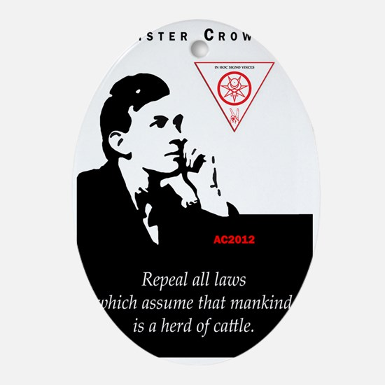 aleister-crowley-repeal-laws-mankind Oval Ornament