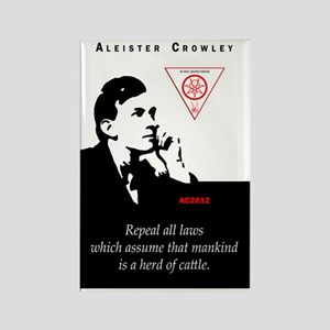aleister-crowley-repeal-laws-mank Rectangle Magnet