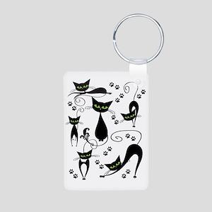 black cats Aluminum Photo Keychain