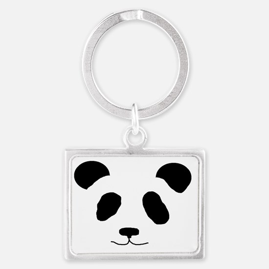 Happy Panda Landscape Keychain