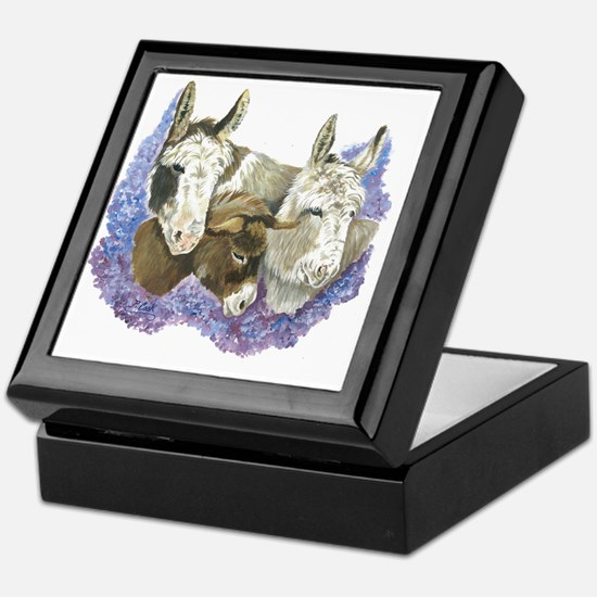 Donkeys Keepsake Box