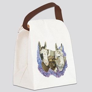 Donkeys Canvas Lunch Bag