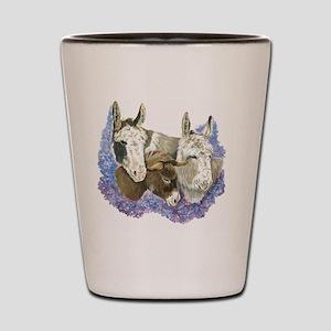Donkeys Shot Glass