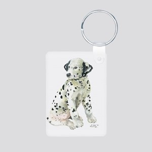 Dalmation Aluminum Photo Keychain
