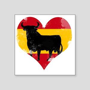 "The Spanish Bull, El Toro d Square Sticker 3"" x 3"""