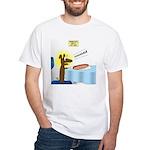 Wiener Dog Meets Hot Dog White T-Shirt
