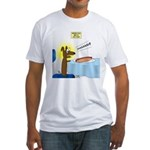 Wiener Dog Meets Hot Dog Fitted T-Shirt