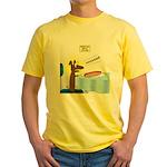 Wiener Dog Meets Hot Dog Yellow T-Shirt