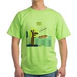 Wiener Dog Meets Hot Dog Green T-Shirt