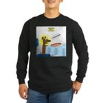 Wiener Dog Meets Hot Dog Long Sleeve Dark T-Shirt