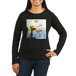 Wiener Dog Meets Women's Long Sleeve Dark T-Shirt