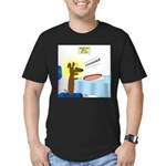Wiener Dog Meets Hot D Men's Fitted T-Shirt (dark)