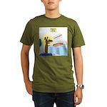 Wiener Dog Meets Hot Organic Men's T-Shirt (dark)