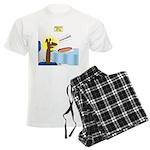 Wiener Dog Meets Hot Dog Men's Light Pajamas