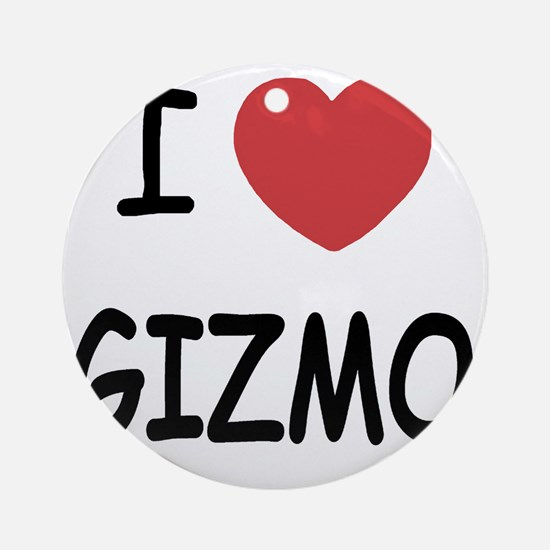 I heart Gizmo Round Ornament