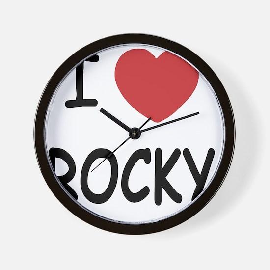I heart Rocky Wall Clock