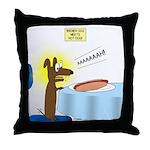 Wiener Dog Meets Hot Dog Throw Pillow