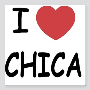 """I heart Chica Square Car Magnet 3"""" x 3"""""""