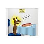 Wiener Dog Meets Hot Dog Throw Blanket