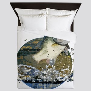 Largemouth Bass Queen Duvet