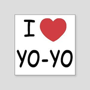 """I heart Yo-Yo Square Sticker 3"""" x 3"""""""