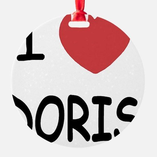 I heart Doris Ornament