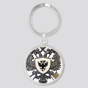 Doucette Family Crest Round Keychain