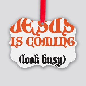 jesus is coming Picture Ornament