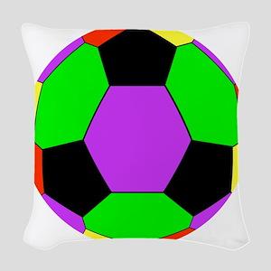 Soccer Ball Car Magnet Woven Throw Pillow