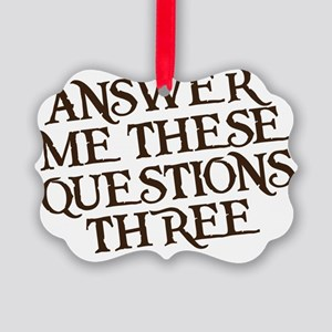 questions three Picture Ornament