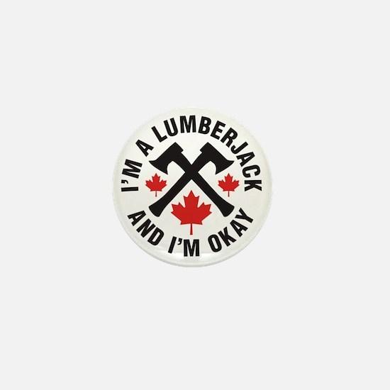 Lumberjack Mini Button
