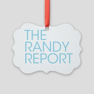 The Randy Report logo Picture Ornament