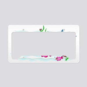 Fish and Whale are Friends License Plate Holder