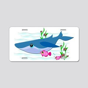 Fish and Whale are Friends Aluminum License Plate