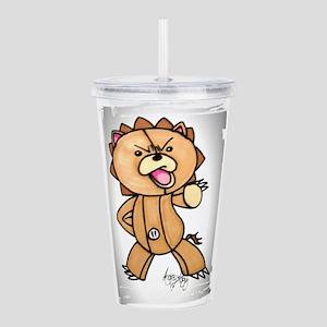 Anime angry bear Acrylic Double-wall Tumbler