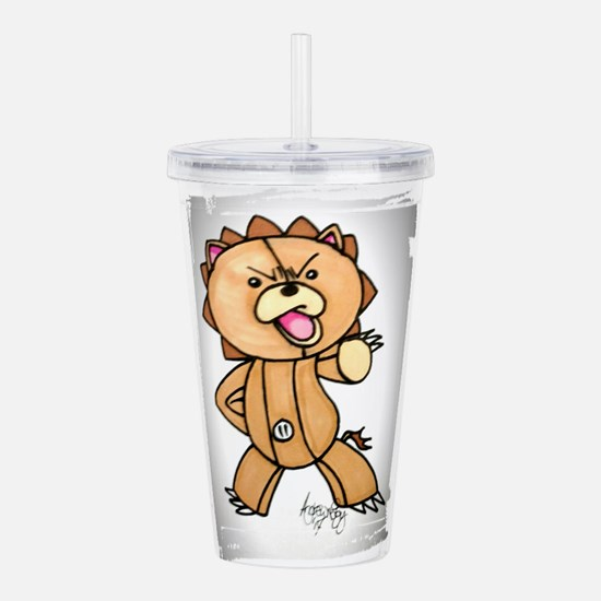 Anime angry bear Acrylic Double-wall Tumbler