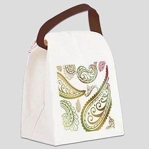 oliveburgundypaisleyqueen Canvas Lunch Bag